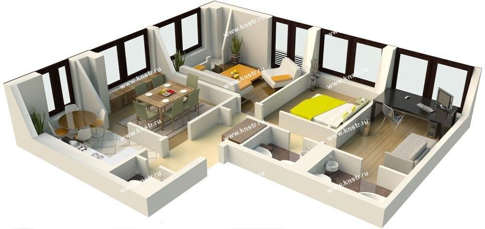 Четырехкомнатная квартира фото